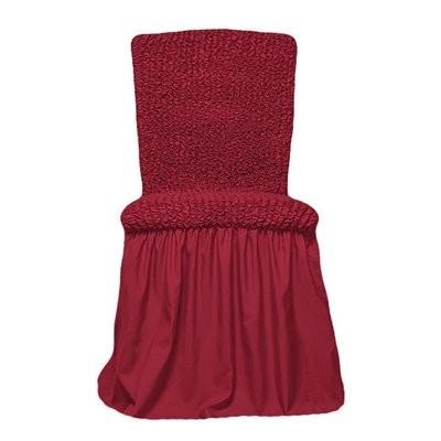 Чехол на стул с оборкой (бордо)