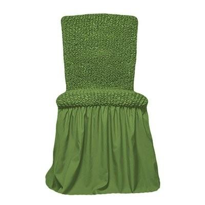 Чехол на стул с оборкой (зеленый)