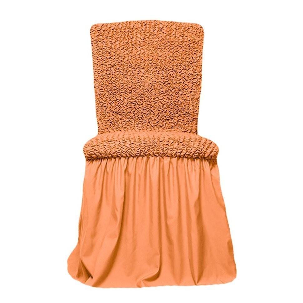 Чехол на стул с оборкой (персик)