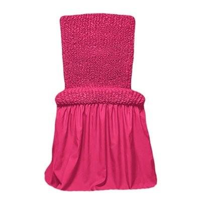 Чехол на стул с оборкой (малиновый)