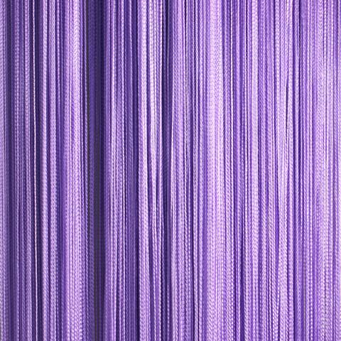 Нитяные шторы кисея (сиреневый)