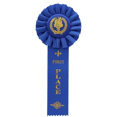 ROSETTE-1ST Trophy