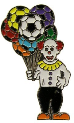 Soccer Clown Lapel Pin