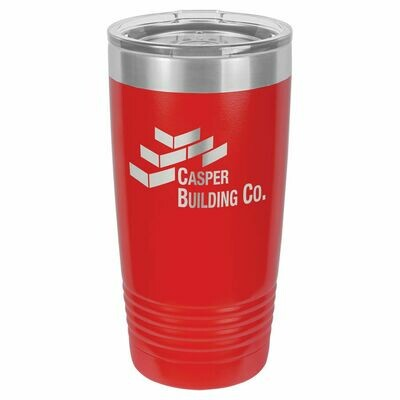 Polar Camel 20 oz. Red Ringneck Vacuum Insulated Tumbler w/Clear Lid