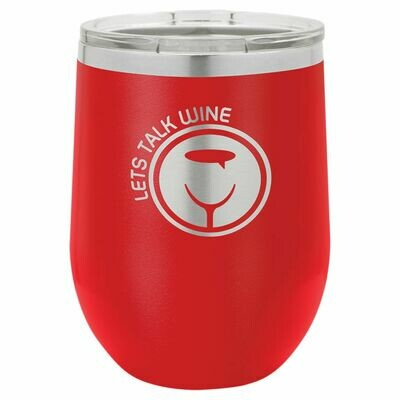 Polar Camel 12 oz. Red Vacuum Insulated Stemless Tumbler w/Lid