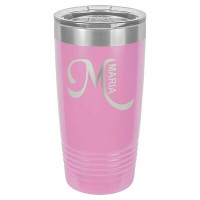 Polar Camel 20 oz. Pink Ringneck Vacuum Insulated Tumbler w/Clear Lid