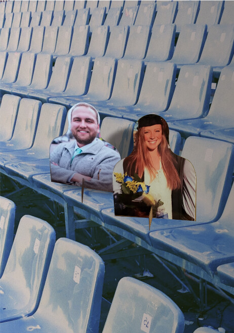 Fans in the Stands Person Cutout