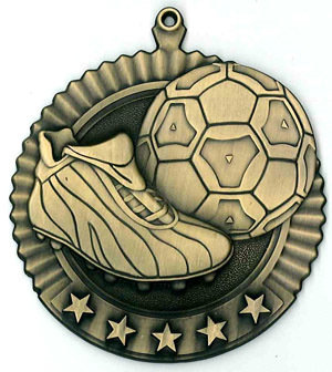 SAY Soccer Ball and Shoe Theme Medal
