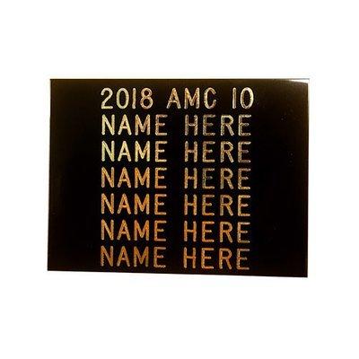 AMC Winner Plate