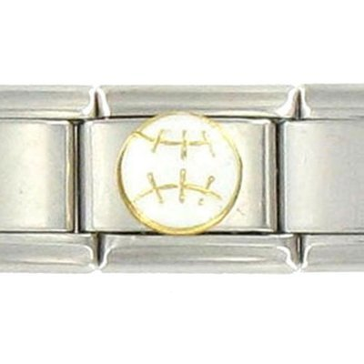 BaseBall Link Charm Bracelet