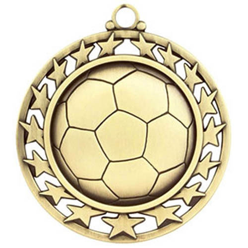 SAY Soccer Ball Medal with Star Border