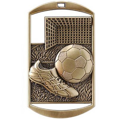 SAY Soccer Ball, Shoe, and Goal Dog Tag Medal