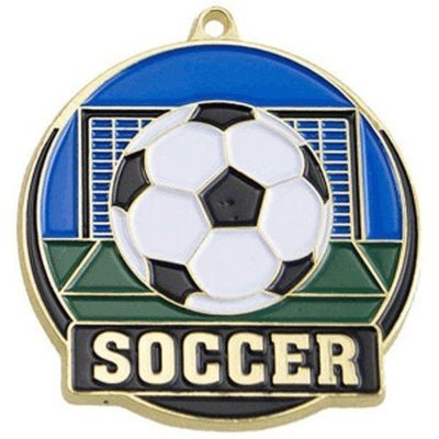 SAY Soccer Ball Goal Theme Medal