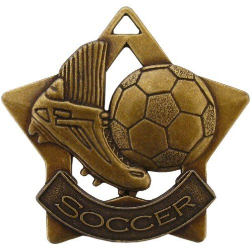 SAY Soccer Ball and Shoe Star Medal