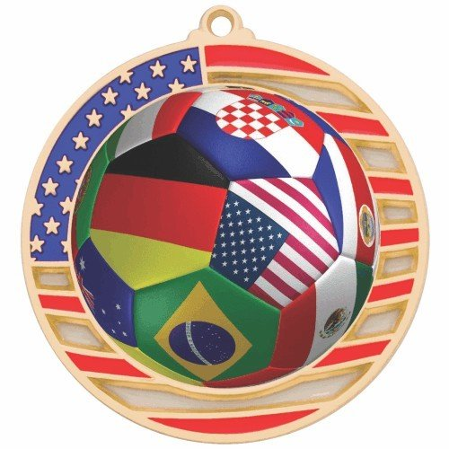 SAY International Stained Glass Soccer Medal