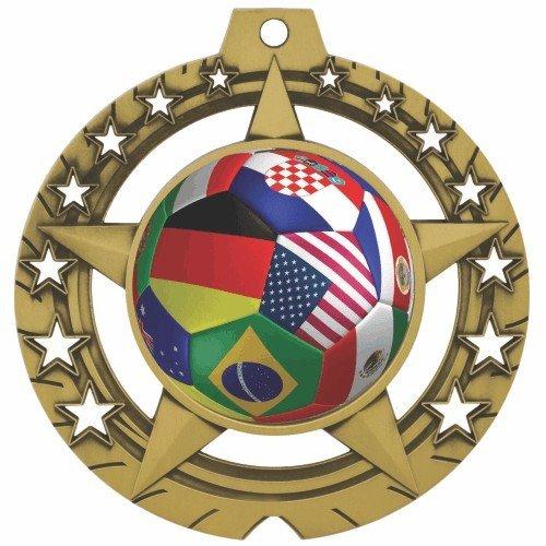 SAY Star Theme International Soccer Medal