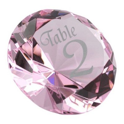 Glass Diamond Table Number
