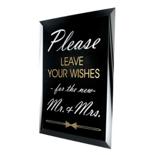 Leave Your Wishes Glass Mirror Sign