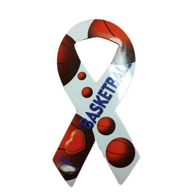 I Love Basketball Ribbon Magnet