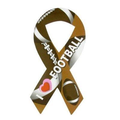I Love Football Ribbon Magnet
