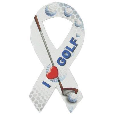 I Love Golf Ribbon Magnet