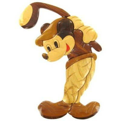 Wooden Golfing Mickey Mouse