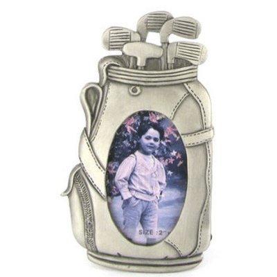 Pewter Golf Bag Picture Frame