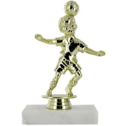 SAY Soccer Trophy with Male Youth Header Figure