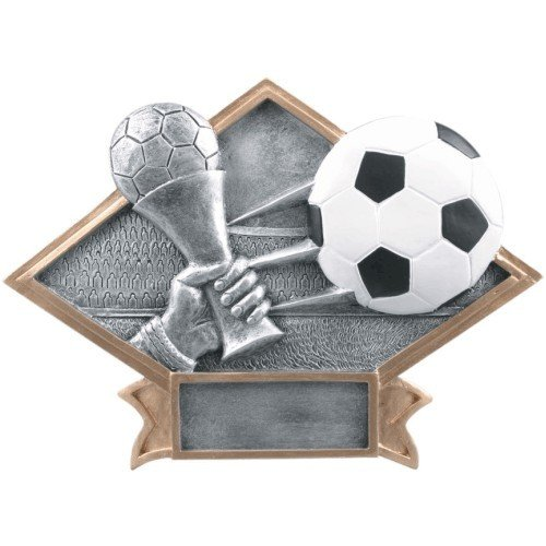 SAY Soccer Sculpture with Gold Border