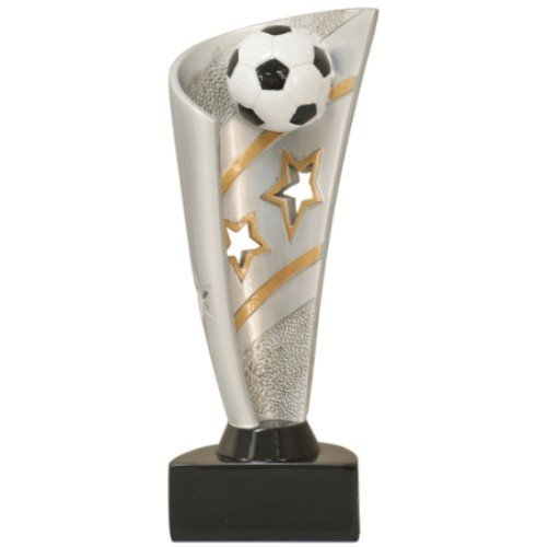 SAY Soccer Sculpture with Gold and Silver Star Theme