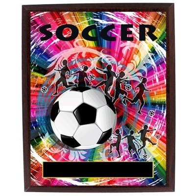 SAY Rainbow Theme with Soccer Ball Plaque