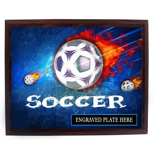 SAY Asteroid Soccer Ball Theme Plaque
