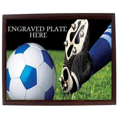 SAY Kicking Soccer Ball Design Plaque