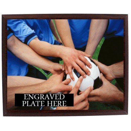 SAY Team Huddle, Hands on Soccer Ball Design Plaque