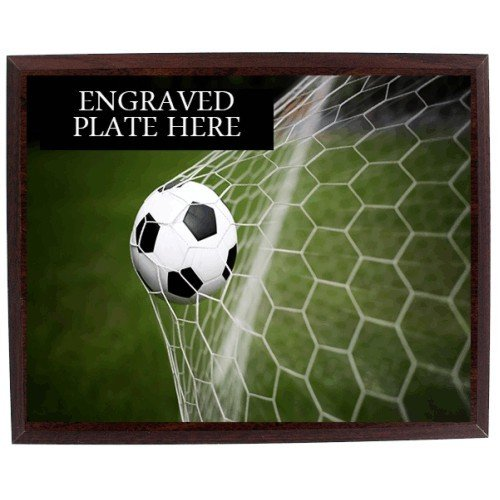SAY Soccer Ball in Goal Design Plaque