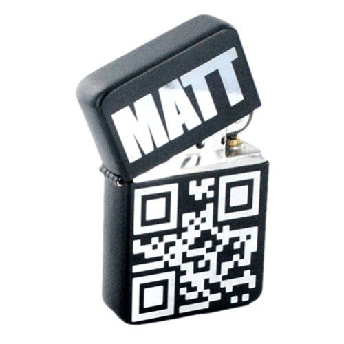 Custom Lighter With Thank You QR Code
