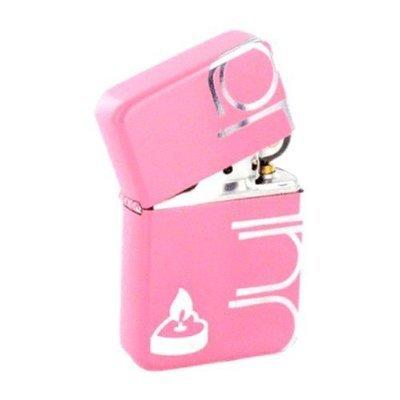Custom Lighter with Flaming Heart Design