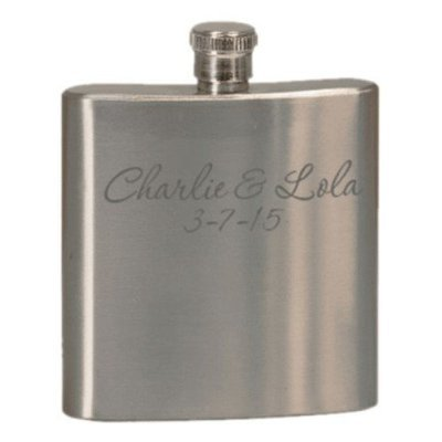 Stainless Steel Customized 6 oz. Flask