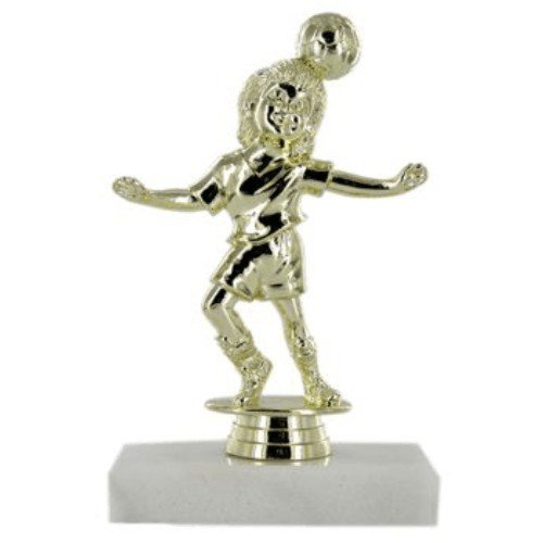 SAY Soccer Trophy with Female Youth Header Figure