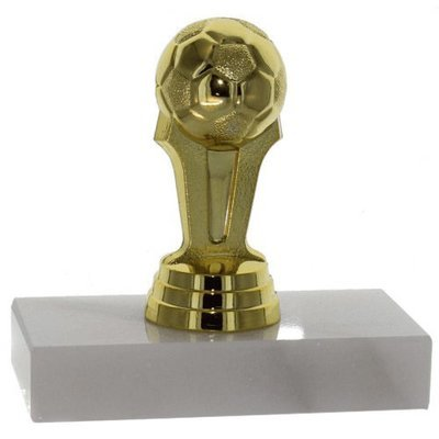 SAY Soccer Trophy with Soccer Ball Figure