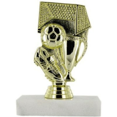 SAY Soccer Trophy with Soccer Ball, Net and Cup Figure