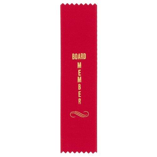 Board Member Ribbon - Red