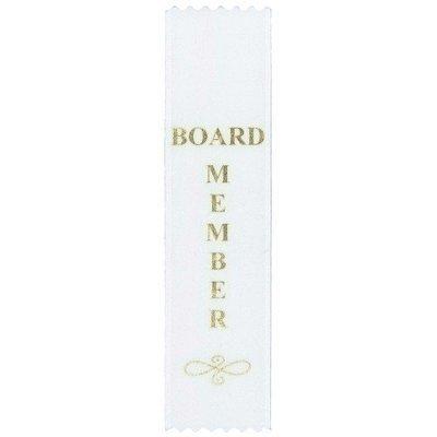 Board Member Ribbon - White
