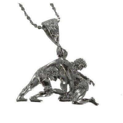 Wrestling Charm Necklace