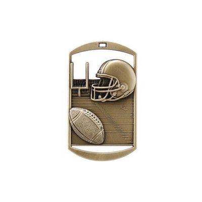 "1""x 2"" Football Dog Tag Medal"