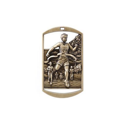 """1""""x 2"""" Track & Cross County Dog Tag Medal"""