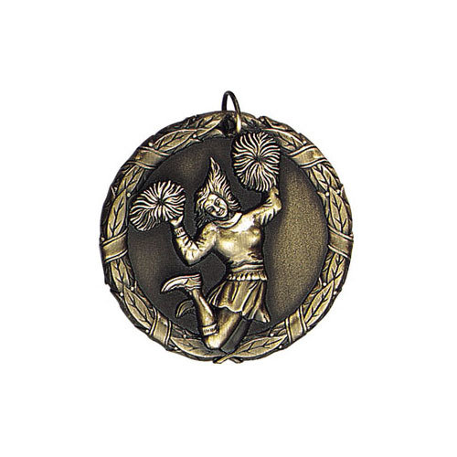 "2"" Cheerleading Medal"