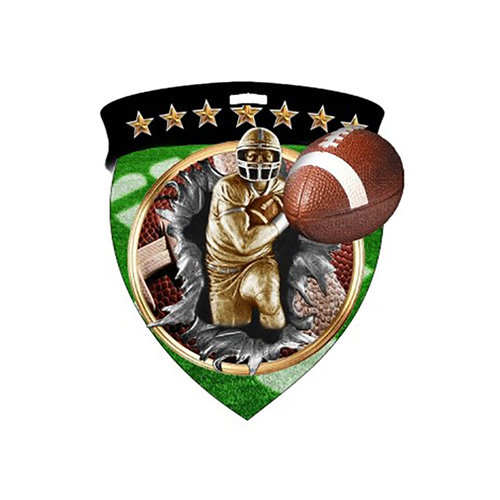 """3"""" Football Shield Medal *Limited Quantities*"""