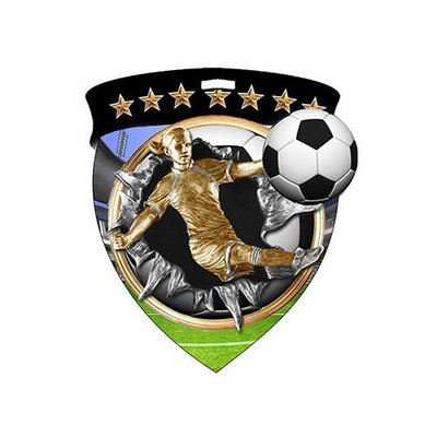 """3"""" Soccer Female Shield Medal *Limited Quantities*"""