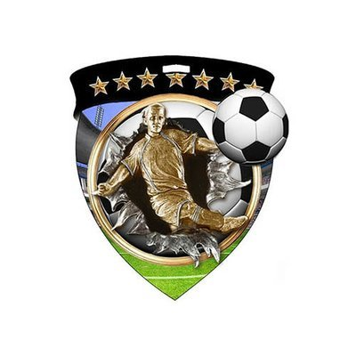 """3"""" Soccer Male Shield Medal *Limited Quantities*"""